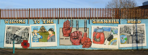 Стена мира. Белфаст. Великобритания